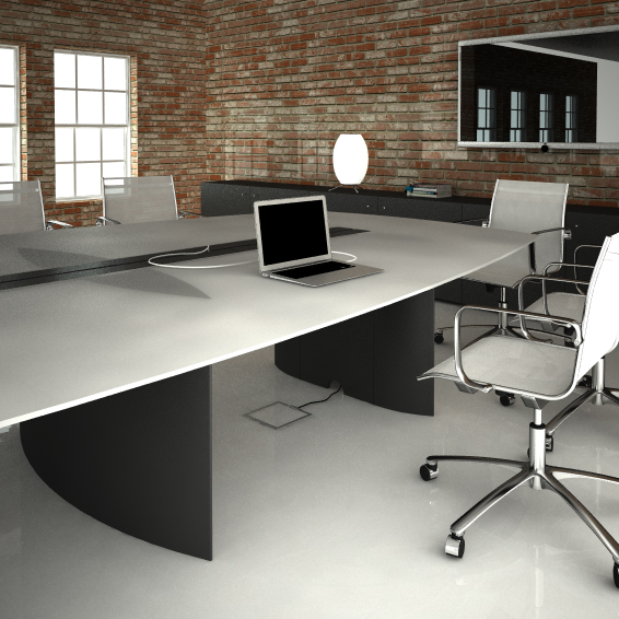Monobloc conference tables over 8 places for Table 8 places